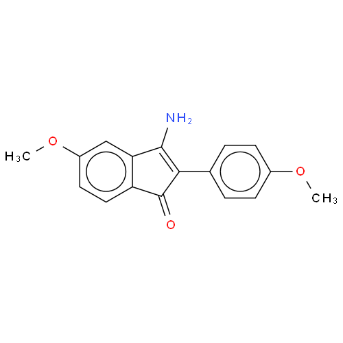 1H-Inden-1-one, 3-amino-5-methoxy-2-(4-methoxyphenyl)- CAS 199987-17-2