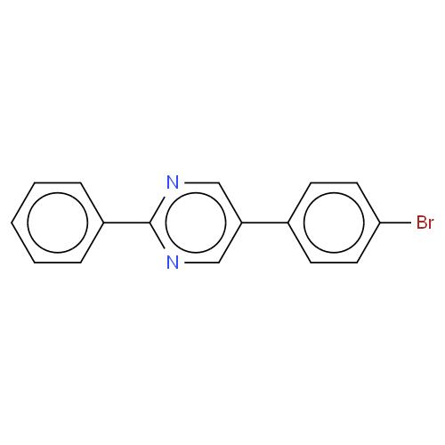 Pyrimidine, 5-(4-bromophenyl)-2-phenyl- CAS 193886-10-1