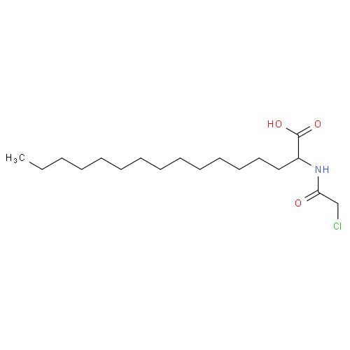 Hexadecanoic acid, 2-[(chloroacetyl)amino]- CAS 193885-58-4