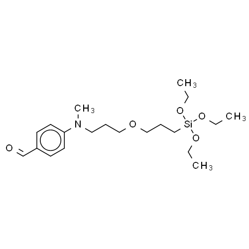 Benzaldehyde, 4-[methyl[3-[3-(triethoxysilyl)propoxy]propyl]amino]- CAS 193827-61-1