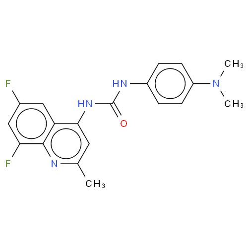 N-(6,8-DIFLUORO-2-METHYL-4-QUINOLINYL)-N'-[4-(DIMETHYLAMINO)PHENYL]UREA CAS 288150-92-5
