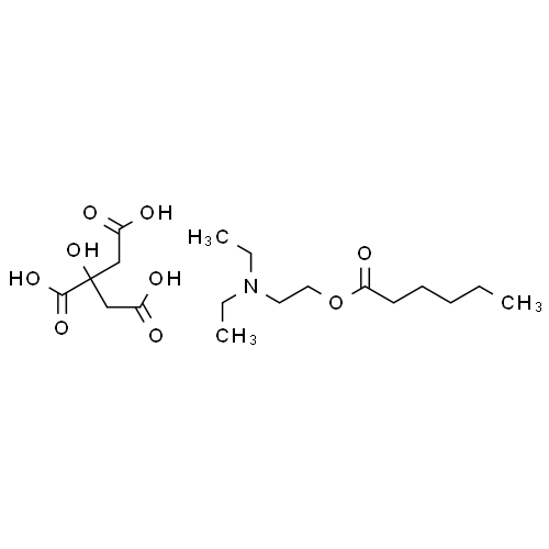 2-Diethylaminoethyl Hexanoate 2-Hydroxypropane-1,2,3-tricarboxylate CAS 220439-24-7